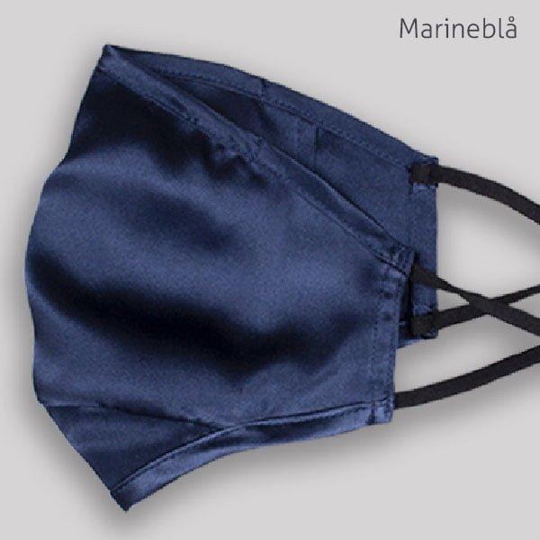 Silke marineblå
